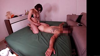 Exciting hung brazilian infant turns chap into fuckdoll