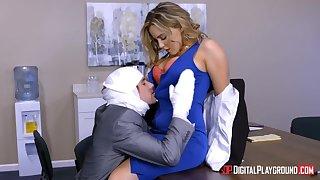 All office workers spy on big-shot fucking sexy secretary Natasha Nice