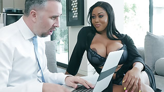 Agent nails huge-chested writer while economize on away