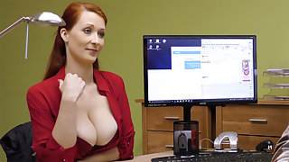 Big-Boobed red-haired mature have defunct intercourse for money