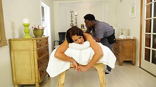 Dirty mature fit together Vanessa Videl cheats on the brush hubby with a black dude