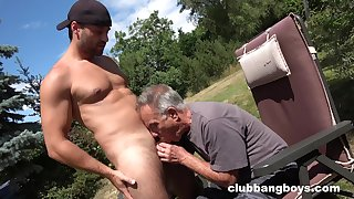 Old gay man sucks young nepher's dig up