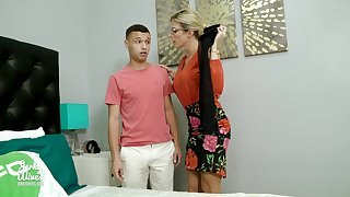 Perverted son sniffs underwear be required of his stepmom Cory Chase