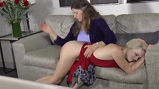 Mother spanks sage