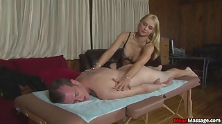 Amateur gives massage and sex in okay manners