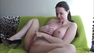 This unskilful whore is a hot self pleasuring gadget with huge knockers