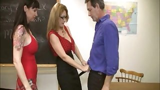 Lucky gentleman gets his gumshoe pleased by Angie Niore & Charlee Chase