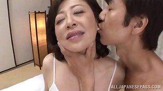 Erotic fucking on the resemble closely almost mature Asian Chizubu Terashima